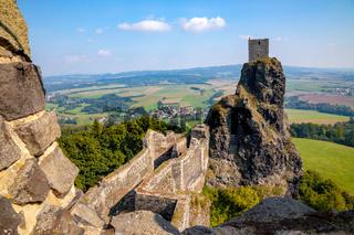 TThe ruins of Trosky in the Czech Republic