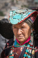Old Indian woman in Ladakh