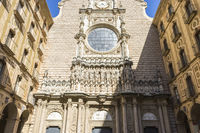 Sanctuary of Our Lady of Montserrat, place of worship on top of the mountain. Montserrat is a rock massif traditionally considered the most important and significant mountain in Catalonia, Spain