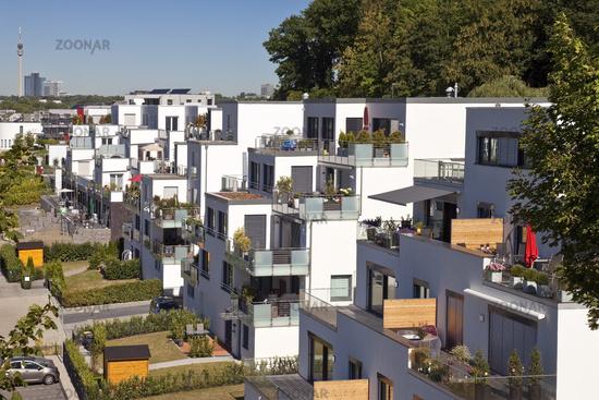 Residential development at the Phoenix lake, Dortmund, North Rhine-Westphalia, Germany, Europe