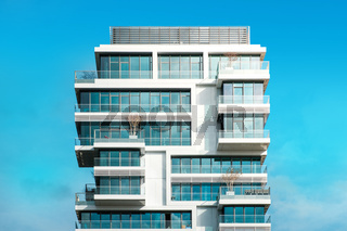 modern apartment building - real estate exterior