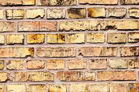 Part of wall with bright bricks