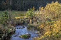 Brook landscape in autumn