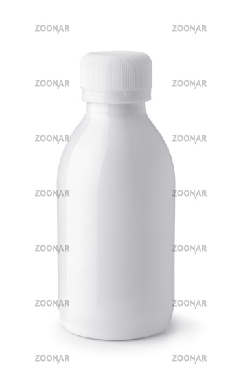 Front view of plastic blank white bottle
