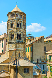 Bell tower of San Donato church in Genoa