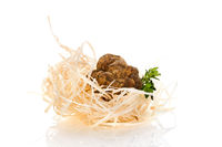 White truffle (tuber magnatum) isolated on white.