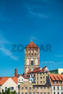 Blick auf die Östliche Altstadt von Rostock.