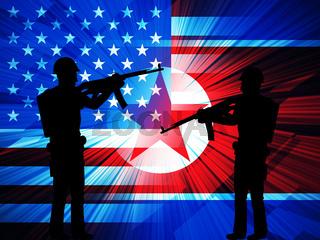 North Korean Army Military Combat 3d Illustration