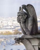 Chimera on Notre Dame de Paris