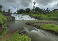 Waterfall close to Kalsubai Peak in Bhandadara Town, Bhandardara, Maharashtra, India