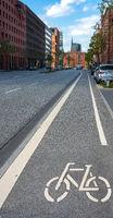 Radweg in der Stadt