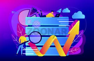 Big data tools concept vector illustration.