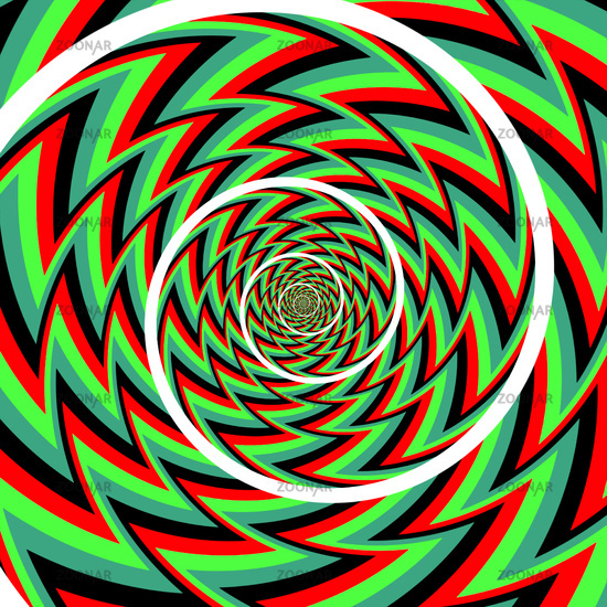 optical illusion spiral background