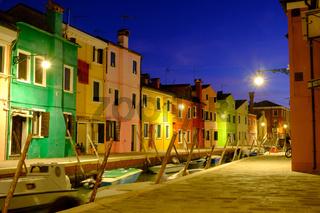 Night on the Burano island