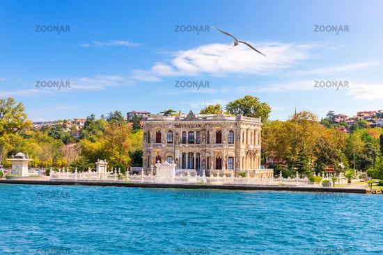 Goksu Pavillion on the Bosphorus, beautiful summer view, Istanbul
