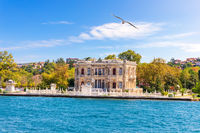 Goksu Pavillion on the Bosphorus, beautiful summer view, Istanbul