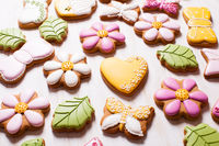 Sweet holiday gingerbreads for girl birth day