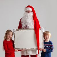 Santa Claus and children