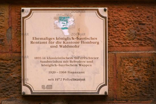 History board Homburg
