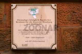 Geschichtstafel Homburg