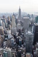 New York City. Manhattan downtown skyline panorama.