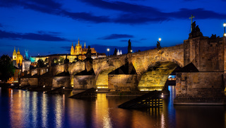 Charles bridge at dusk