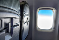 seat and window in an airplane