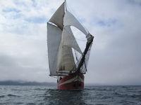 Sailship at Svalbard Coast