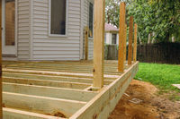 New deck patio with modern wooden deck