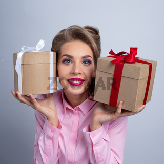 Woman with two gifts