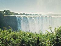 scene of the Victoria water falls