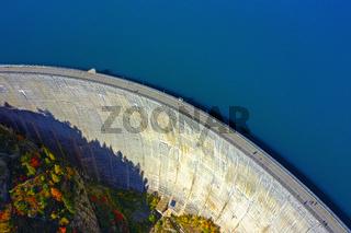 Emosson Staumauer und Stausee, Finhaut, Wallis, Schweiz