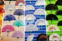 Colorful Spanish Fans for sale