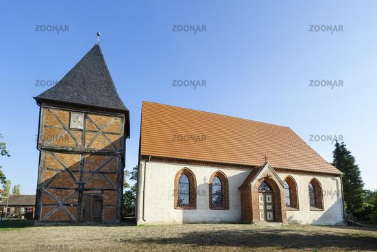 Church Sargleben near Karstaedt (Prignitz), Brandenburg, Germany