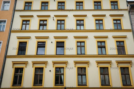 house facade exterior of apartment building, Berlin