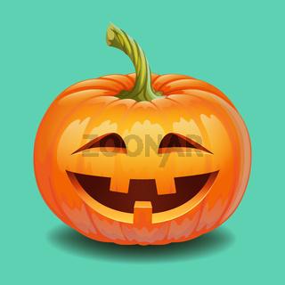 Halloween pumpkin face - crazy smile Jack o lantern