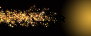 Futuristic particle panorama background design illustration