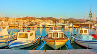 Fshing boats in the port of Aegina town