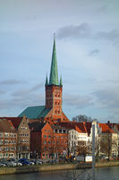 st.peters church in luebeck, germany
