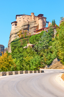 The Monastery of Rousanou on the rock in Meteora