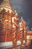 Golden buddha, Wat Doi Suthep, Chiang Mai, Thailand