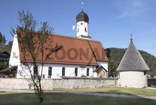 Kath. Kirche St. Jakob in Wallgau, Oberbayern