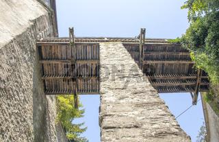 Burg Meersburg mit Brücke zur Burg