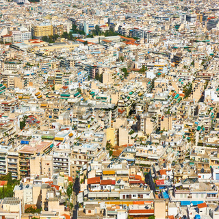 Residental areas of Athens city