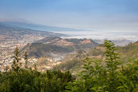 View over Valley in Anaga Mountains with Ocean in the Background, Tenerife, Spain