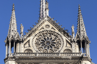 Transept of Notre Dame cathedral in Paris