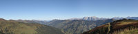 Panoramic view from a peak at village Zell am See in Austria