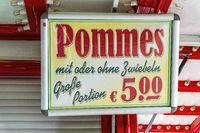 Sign at a food stall