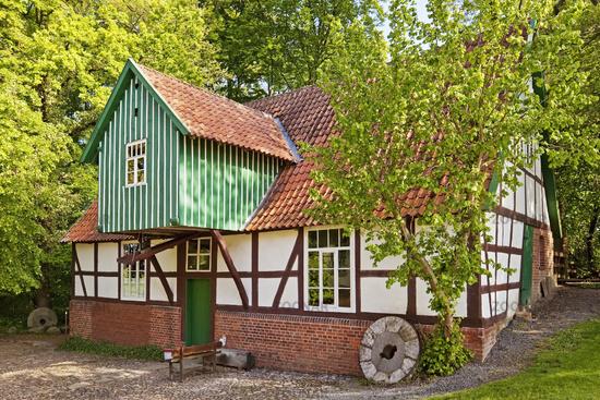 water mill Plaggenmuehle, Petershagen, East Westphalia, North Rhine-Westphalia, Germany, Europe