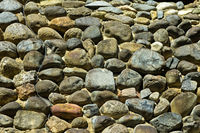 Mauer aus Feldsteinen / Wall of field stones